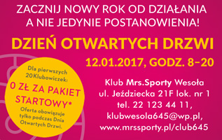 Klub Mrs Sporty Wesoła