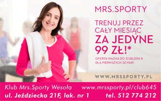 Mrs. Sporty lipiec